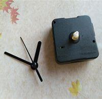 Toptan 50 ADET 12 MM Mil Süpürme Pil ile Kuvars Saat Hareketi Mekanizması Kısa Siyah Metal Eller DIY Kitleri