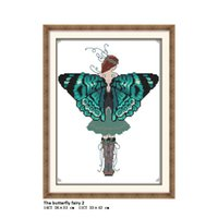 Joy Sunday The butterfly fairy 2 ,Cross-stitch embroidery kits, DIY cross stitch embroidery suit, enough canvas for embroidery home decor