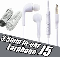 Alta qualità 3.5mm Auricolare in-ear con microfono per samsung galaxy S4 J5 Iphone Sony Xiaomi smart cellulare senza scatola al minuto no Logo