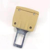 2 Cor 1 pc Extensor de Cinto de Segurança do Cinto de Segurança Do Carro Cinto de Segurança Bloqueio Fivela Plug Inserção Grosso Soquete Preto / bege