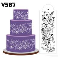 Stampo torta di plastica bianca aerografo pittura arte stampo biscotti stampi fondente fai da te torta mousse tesa strumenti di decorazione Cirrus Vine