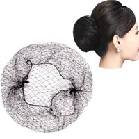 10pcs Nylon Hairnets Black Invisible Soft Elastic Lines Hair...