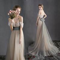 Sexy Off the Shoulder Sash Beach Wedding Dresses Vintage 201...