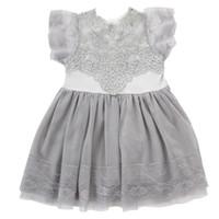 2017 Pudcoco stile Euramerican Ball Gown Castle Estate manica corta ragazze vestono i vestiti per i bambini da 2 a 6 anni bambini
