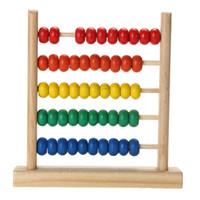 Juguete de madera del bebé Abacus pequeñas cantidades colorido cuenta Cálculo de Cuentas Niños Matemáticas Aprendizaje Temprano de juguetes educativos