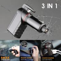 LEBEN Stinger Carregador USB de Emergência Fuga Ferramenta Car Charger Janela disjuntor cortador de cinto de Nova chegada