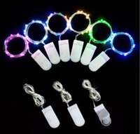 Copper wire string LED button battery 2m20 lamp colorful col...