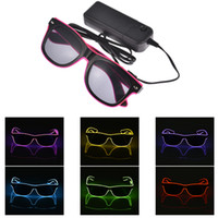 LED Flashing Glasses EL Wire LED Glasses Glowing Party Suppl...