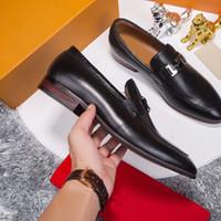 94045d0eb3a8 Luxus-Mode-Männer 2018 Designer Formale Office Business Oxfords Casual  Loafers echtes Leder Marke