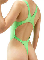 Women Sexy Thong One Piece Swimwear High Cut Swimsuit Bathin...