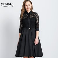 Spring Autumn Long Lace Dress Women' s Tunic Work Casual ...