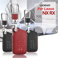 똑똑한 열쇠 열쇠가없는 먼 입장 Fob 케이스 덮개 Lexus NX RX RC를위한 열쇠 고리를 가진