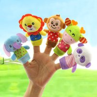 HAPPY MONKEY 5pcs lot Cartoon Animal Finger Puppet Baby Plus...
