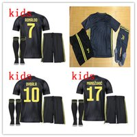 Juventus soccer jersey kids kit with socks 2018 19 juve thir...