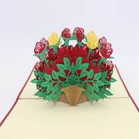 Wholesale origami flowers buy cheap origami flowers 2018 on sale 6 photos wholesale origami flowers for sale pieces korean creative d flower basket pop up card kirigami mightylinksfo