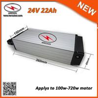 China Liefern Sie hohe Qualität hinteres Rack 24V Li Ionen-Batterie-Satz 24V 22Ah Batteriegebrauch in den Zellen 7S9P für 700W elektrisches Fahrrad