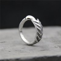925 sterling silver ring vintage Bow and arrow rings Thai si...
