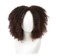 14 Pouces Brun Synthétique Perruques Bouclées Pour Femmes 9 Couleurs Ombre Perruque Afro Court Afro Américain Naturel Noir Cheveux