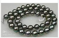 8-9mm 17 черный AKOYA жемчужное ожерелье STRAND