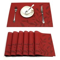 Table Mats Washable Placemats Woven Vinyl Place Mat high qua...