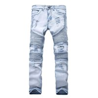 New Designer Mens Jeans Skinny With Slim Elastic Denim Fashi...