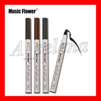 الموسيقى زهرة السائل الحاجب قلم 3 ألوان الحاجب محسن أربعة رئيس الحاجب القلم 24 ساعة للماء شحن مجاني