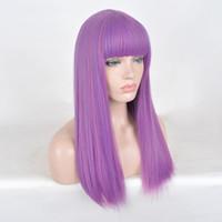 Ребенок ребенок размер парики потомки 2 Mal косплей длинные фиолетовые волосы Хэллоуин парик