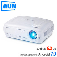 AUN AKEY2 LED Projector, 3500 люмен Обновите Android 7.0 Beamer. Встроенный WIFI, Bluetooth, поддержка 4K видео Full HD 1080P LED TV