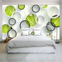 Custom 3D Photo Wallpapers Modern Abstract Art Painting Wall Mural Círculos 3D Sala de estar Dormitorio Sofá TV Fondo Papel de pared