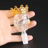 Neue Design Siper Größe Skull Glas Bong Schüssel für Glas Rauchen Bongs sehr schwere Hersteller männlich 14,5 mm 18,8 mm Schüssel Wasserleitung