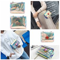 Women Summer PVC Mini Chain Bag Female Laser Shoulder Crossb...