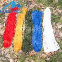 Hängende Ineinander greifen-Hängematte, die einfach ist, Nylon Hängematten mit Aufbewahrungstasche zu tragen Gebundenes Seil-im Freien Swing-Schlafen-Bett langlebig 11bt B