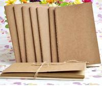 A5 دفتر جلد البقر ورقة فارغة المفكرة كتاب خمر كرافت ورقة يسهل حملها دفتر صغير كتابات رسم epacket مجانية