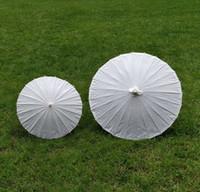 Ombrelloni da sposa in carta bianca Ombrelli in carta cinese Mini Caft da disegno Ombrello 2 Diametro: 40,60cm Ombrelli da sposa all'ingrosso
