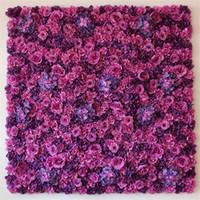 Yüksek Yoğun 60 cm x 40 cm Düğün Çiçek Duvar Gerçek Dokunmatik Yapay Gül Ortanca Şakayık Çiçek Fotoğrafçılık Sahne Olay Parti Düğün Sahne Dekor