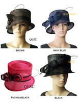 Cappello della Chiesa di Sinamay Organza per il matrimonio, razze. Spedizione gratuita da EMS.5 colori, può scegliere il colore, 10pcs / lot