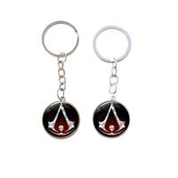 Assassin's Creed Keychain Mestre Templário Águia Logotipo Crachá Chaveiro Pop Jogo de Alta Qualidade Titular Anel Chave Do Carro Homens Jóias