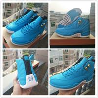 2018 vendita a buon mercato XII 12 V2 bianco North Carolina blu scarpe da  basket per d0670bc80e3