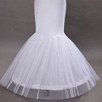 Robe de mariée sirène jupon de jupon robe de bal de balle sirène glissement longueur longueur jupe cerceau jupon crinoline sous-cours 2018 Vendu par modeldress