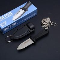 Top qualité Cold Steel super Knife Edge 42SS 43LS comprend robuste survie Secure-Ex gaine avec le paquet de boîte de papier originale