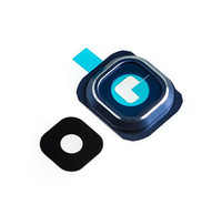Alta qualidade de volta câmera traseira moldura aro suporte anéis tampa + lente de vidro com adesivo adesivo para samsung S6 G920 925 S6 borda