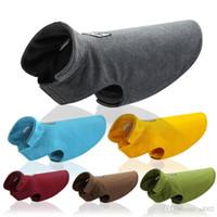 مطاطا جرو الصدرية قابلة لإعادة الاستخدام الدائم لينة الصوف القطبية الحيوانات الأليفة ملابس الشتاء لتدفئة ضعف الجانب الكلاب سترات العديد من الألوان 24mm6 ZZ