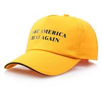Make America Great Again Chapeau Chapeau Donald Trump Casquette De Baseball Républicain Cadeau De Noël Casquette De Baseball Snapback Caps 9 Couleurs 50 pcs