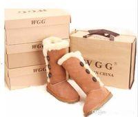 FAST shipping Alta qualità WGG Classici alti da donna Stivali da donna Stivali da neve Stivali invernali in pelle