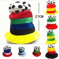 الجملة الأزياء ميكس أنماط روسيا كأس العالم لكرة القدم القبعات مشجعي كرة القدم أغطية الرأس التشجيع فريق الدعائم قبعات