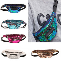 New Fashion Women Mermaid Shiny Sequin Chest Fanny Pack Spor...