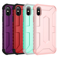For Iphone XS XR XS Max Case Phone Case 2in1 Hybrid Soft TPU...