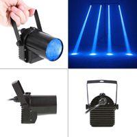 Mini 3W LED bleue de scène de lampe de projecteur Disco Dance Party Club KTV Bar DJ Spin Laser scène d'éclairage Effet Spotlight Pinspot