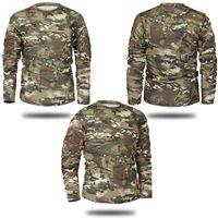 Camicia a maniche lunghe di marca della molla di autunno uomini Tactical camuffamento della maglietta Camisa Masculina Quick Dry esercito militare Drop Shipping