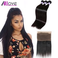 Brazilian Straight Hair Weaves With Closure Pre- Plucked 360 ...